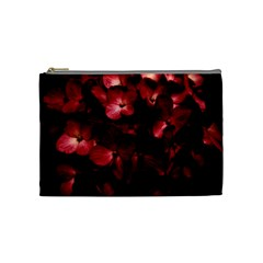 Red Flowers Bouquet In Black Background Photography Cosmetic Bag (medium) by dflcprints