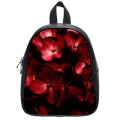 Red Flowers Bouquet In Black Background Photography School Bag (small) by dflcprints