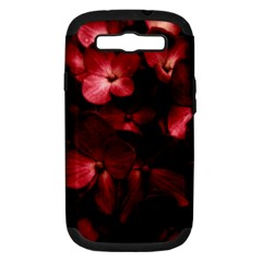 Red Flowers Bouquet In Black Background Photography Samsung Galaxy S Iii Hardshell Case (pc+silicone) by dflcprints