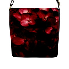 Red Flowers Bouquet In Black Background Photography Flap Closure Messenger Bag (large) by dflcprints
