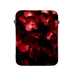 Red Flowers Bouquet In Black Background Photography Apple Ipad Protective Sleeve by dflcprints