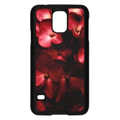 Red Flowers Bouquet In Black Background Photography Samsung Galaxy S5 Case (black) by dflcprints