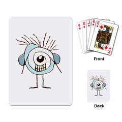 Cute Weird Caricature Illustration Playing Cards Single Design by dflcprints