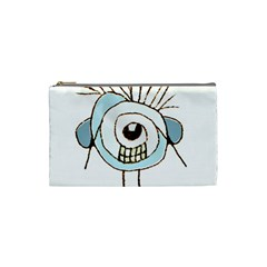 Cute Weird Caricature Illustration Cosmetic Bag (small) by dflcprints