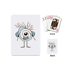 Cute Weird Caricature Illustration Playing Cards (mini) by dflcprints