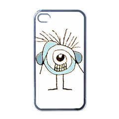 Cute Weird Caricature Illustration Apple Iphone 4 Case (black) by dflcprints