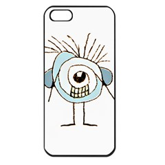 Cute Weird Caricature Illustration Apple Iphone 5 Seamless Case (black) by dflcprints