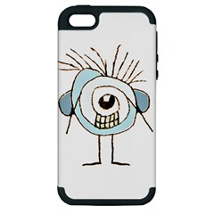Cute Weird Caricature Illustration Apple Iphone 5 Hardshell Case (pc+silicone) by dflcprints