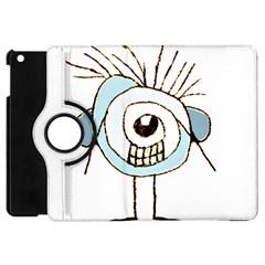 Cute Weird Caricature Illustration Apple Ipad Mini Flip 360 Case by dflcprints