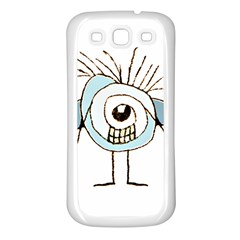 Cute Weird Caricature Illustration Samsung Galaxy S3 Back Case (white) by dflcprints
