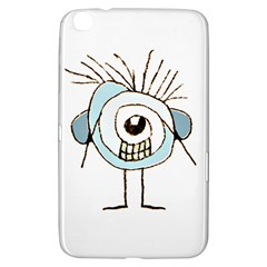 Cute Weird Caricature Illustration Samsung Galaxy Tab 3 (8 ) T3100 Hardshell Case  by dflcprints