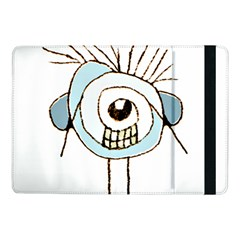 Cute Weird Caricature Illustration Samsung Galaxy Tab Pro 10 1  Flip Case by dflcprints