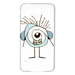 Cute Weird Caricature Illustration Samsung Galaxy S5 Back Case (white) by dflcprints
