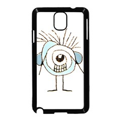 Cute Weird Caricature Illustration Samsung Galaxy Note 3 Neo Hardshell Case (Black) by dflcprints