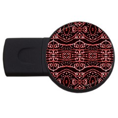 Tribal Ornate Geometric Pattern 2gb Usb Flash Drive (round) by dflcprints