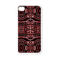 Tribal Ornate Geometric Pattern Apple Iphone 4 Case (white) by dflcprints
