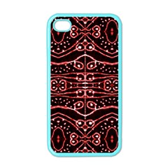 Tribal Ornate Geometric Pattern Apple Iphone 4 Case (color) by dflcprints
