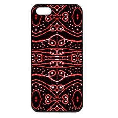 Tribal Ornate Geometric Pattern Apple Iphone 5 Seamless Case (black) by dflcprints