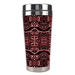Tribal Ornate Geometric Pattern Stainless Steel Travel Tumbler by dflcprints