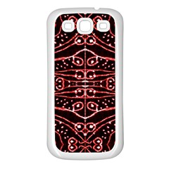 Tribal Ornate Geometric Pattern Samsung Galaxy S3 Back Case (white) by dflcprints