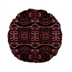 Tribal Ornate Geometric Pattern 15  Premium Flano Round Cushion  by dflcprints