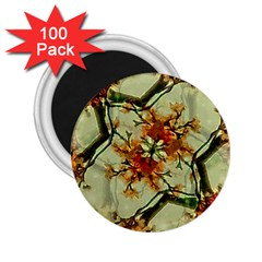 Floral Motif Print Pattern Collage 2 25  Button Magnet (100 Pack) by dflcprints