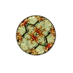 Floral Motif Print Pattern Collage Golf Ball Marker (for Hat Clip) by dflcprints