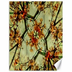 Floral Motif Print Pattern Collage Canvas 18  X 24  (unframed) by dflcprints