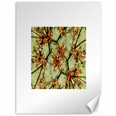 Floral Motif Print Pattern Collage Canvas 36  X 48  (unframed) by dflcprints