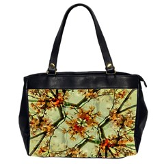 Floral Motif Print Pattern Collage Oversize Office Handbag (two Sides) by dflcprints