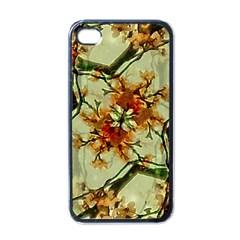 Floral Motif Print Pattern Collage Apple Iphone 4 Case (black) by dflcprints