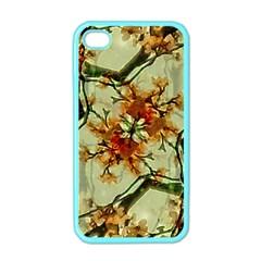 Floral Motif Print Pattern Collage Apple Iphone 4 Case (color) by dflcprints