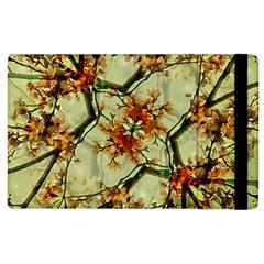 Floral Motif Print Pattern Collage Apple Ipad 3/4 Flip Case by dflcprints
