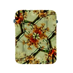 Floral Motif Print Pattern Collage Apple Ipad Protective Sleeve by dflcprints