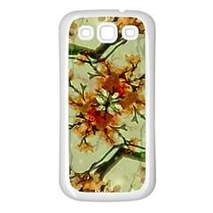 Floral Motif Print Pattern Collage Samsung Galaxy S3 Back Case (white) by dflcprints