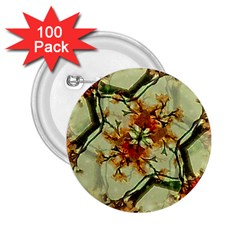 Floral Motif Print Pattern Collage 2 25  Button (100 Pack) by dflcprints