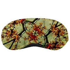 Floral Motif Print Pattern Collage Sleeping Mask by dflcprints
