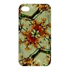 Floral Motif Print Pattern Collage Apple Iphone 4/4s Premium Hardshell Case by dflcprints