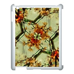 Floral Motif Print Pattern Collage Apple Ipad 3/4 Case (white) by dflcprints