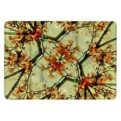 Floral Motif Print Pattern Collage Samsung Galaxy Tab 8.9  P7300 Flip Case by dflcprints