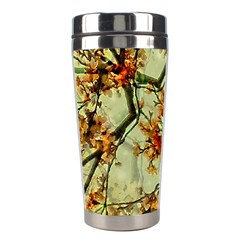 Floral Motif Print Pattern Collage Stainless Steel Travel Tumbler by dflcprints