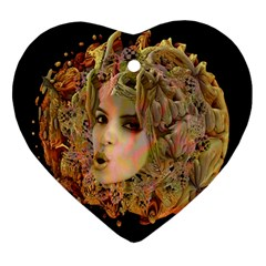 Organic Planet Heart Ornament (two Sides) by icarusismartdesigns