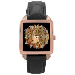 Organic Planet Rose Gold Leather Watch  by icarusismartdesigns