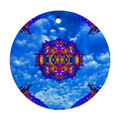 Sky Horizon Round Ornament (two Sides) by icarusismartdesigns