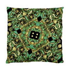 Luxury Abstract Golden Grunge Art Cushion Case (single Sided)  by dflcprints