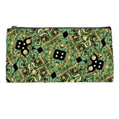 Luxury Abstract Golden Grunge Art Pencil Case by dflcprints