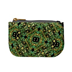 Luxury Abstract Golden Grunge Art Coin Change Purse by dflcprints