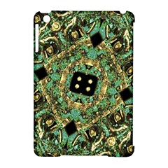 Luxury Abstract Golden Grunge Art Apple Ipad Mini Hardshell Case (compatible With Smart Cover) by dflcprints