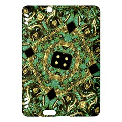 Luxury Abstract Golden Grunge Art Kindle Fire Hdx Hardshell Case by dflcprints