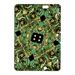 Luxury Abstract Golden Grunge Art Kindle Fire HDX 8.9  Hardshell Case by dflcprints